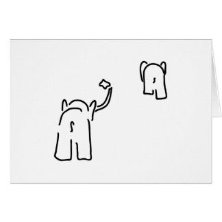 Parting with handkerchief from pair from elephants card