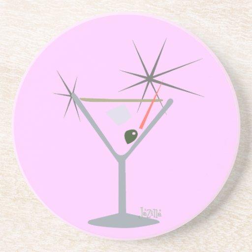 Partini Martini Glass Beverage Coaster