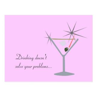 Partini Martini Glass Postcard