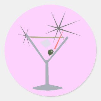 Partini Martini Glass Classic Round Sticker