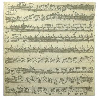 Partita by Bach Handwritten Manuscript Facsimile Cloth Napkin