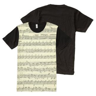 Partita Three in E Major Bach Handwritten Score All-Over Print Shirt