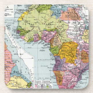 PARTITIONED AFRICA, 1914 COASTER