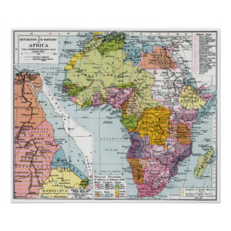 PARTITIONED AFRICA, 1914 POSTER