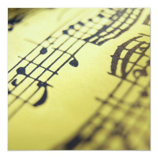 """Partitura 3 de la sonata invitación 5.25"""" x 5.25"""""""