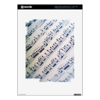 Partitura 8 pegatina skin para iPad 3