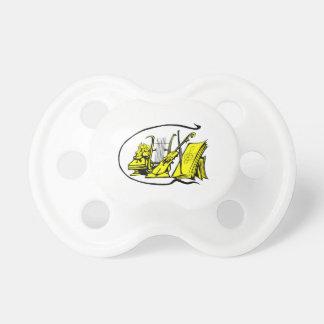 partitura amarilla design.png del violín del lyre  chupetes para bebes