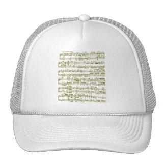 Partitura amarilla (sonata de piano de Beethoven) Gorro De Camionero