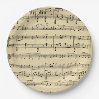 Partitura antigua platos de papel