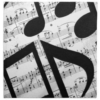 Partitura artsy servilleta imprimida