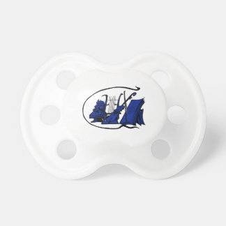 partitura azul design.png del violín del lyre del  chupete de bebé