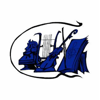 partitura azul design.png del violín del lyre del  esculturas fotográficas