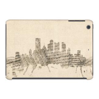 Partitura Citysc del horizonte de Pittsburgh Funda Para iPad Mini Retina