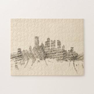 Partitura Citysc del horizonte de Pittsburgh Rompecabezas Con Fotos