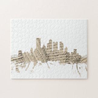 Partitura Citysc del horizonte de Pittsburgh Puzzle