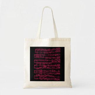 Partitura clásica rosada de neón (Beethoven) Bolsa Tela Barata