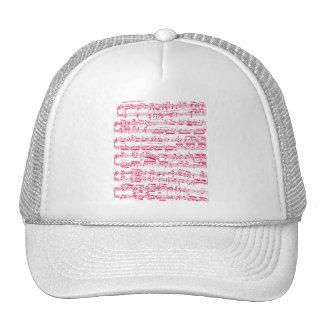 Partitura clásica rosada de neón (Beethoven) Gorros