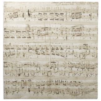 Partitura de Chopin Servilletas Imprimidas