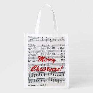 Partitura de la canción del navidad bolsa para la compra