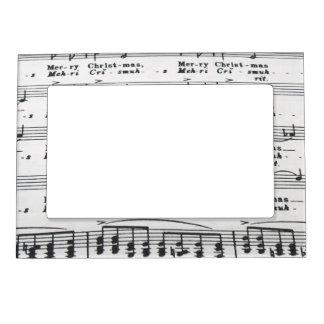 Partitura de la canción del navidad marcos magnéticos