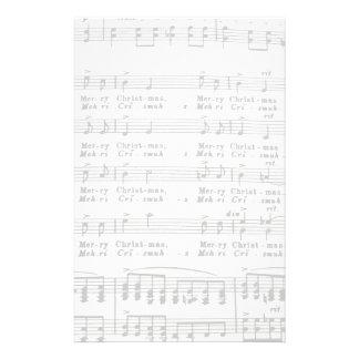 Partitura de la canción del navidad papeleria de diseño