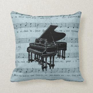 Partitura del azul del piano de cola cojines