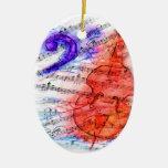 Partitura del corte del bajo - ornamento ornamentos de navidad