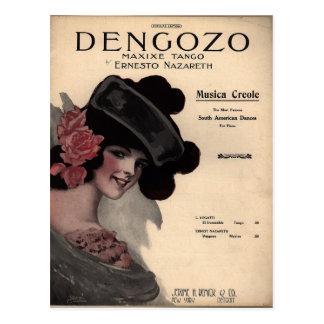 Partitura del tango del vintage tarjetas postales