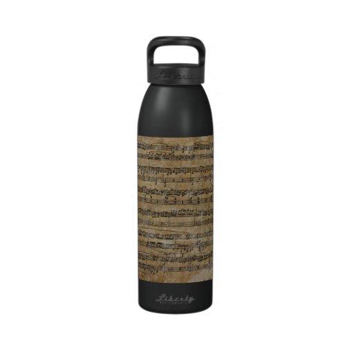 Partitura del vintage botellas de beber