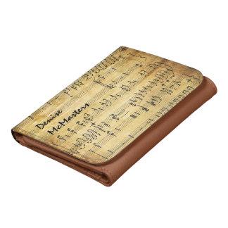 Partitura del vintage - cartera personalizada de l