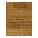 Partitura del vintage de Johann Sebastian Bach