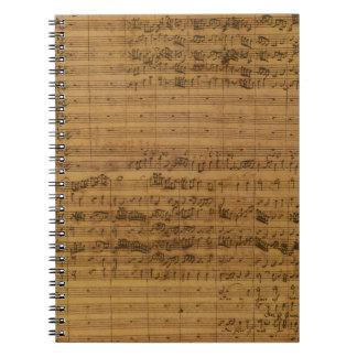 Partitura del vintage de Johann Sebastian Bach Libros De Apuntes
