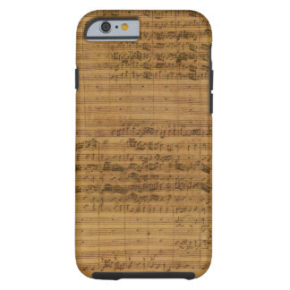 Partitura del vintage de Johann Sebastian Bach Funda Para iPhone 6 Tough