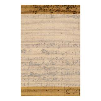 Partitura del vintage de Johann Sebastian Bach Papelería Personalizada