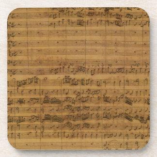 Partitura del vintage de Johann Sebastian Bach Posavasos