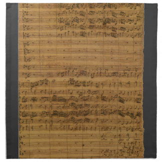 Partitura del vintage de Johann Sebastian Bach Servilletas Imprimidas