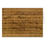 Partitura del vintage de Johann Sebastian Bach Tarjetón