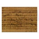 Partitura del vintage de Johann Sebastian Bach Tarjeta De Felicitación