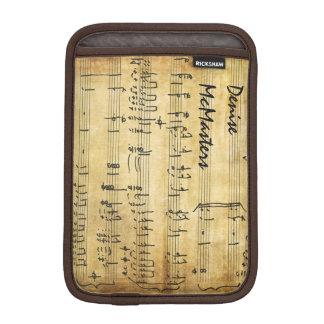 Partitura del vintage - nombre personalizado fundas iPad mini