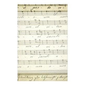 Partitura del vintage, partitura musical antigua papelería