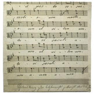 Partitura del vintage, partitura musical antigua servilletas