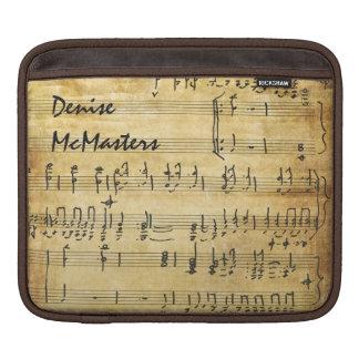 Partitura del vintage - personalizada con nombre fundas para iPads