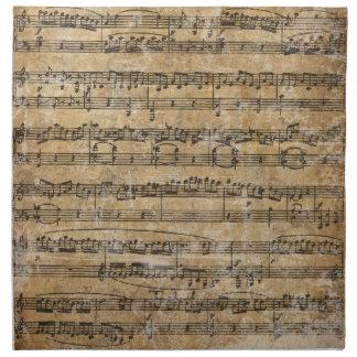 Partitura del vintage servilleta de papel