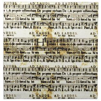 Partitura del vintage servilletas