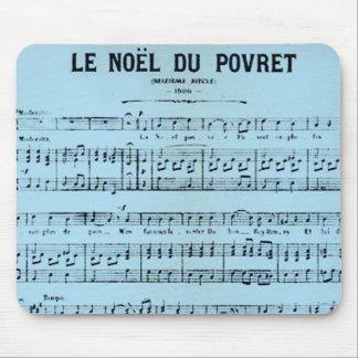 Partitura francesa Mousepad Alfombrilla De Raton