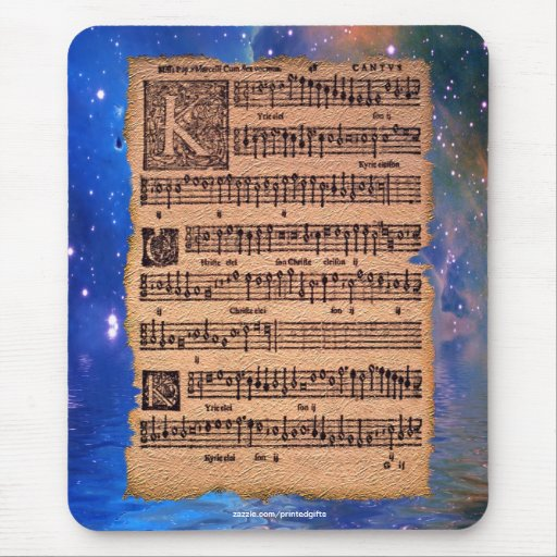 Partitura gregoriana histórica Mousemat del canto Tapete De Ratones