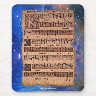 Partitura gregoriana histórica Mousemat del canto Tapete De Raton