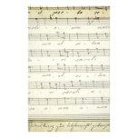Partitura musical 1810 del vintage; Partitura anti Papelería