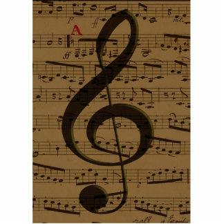 Partitura musical del Clef agudo Escultura Fotográfica