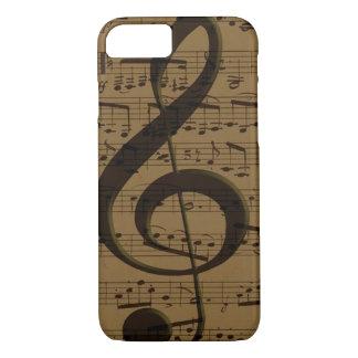 Partitura musical del Clef agudo Funda iPhone 7